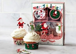 Cupcake Set Merry Bright Christmas