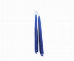 Dinerkaarsen handgemaakt set/4 blauw