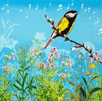 Servetten Twittering Bird