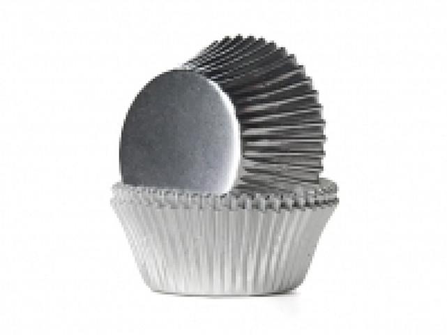 Cake cups Alu Zilver Mini