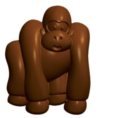 Chocoladevorm / IJsblokjes Gorilla