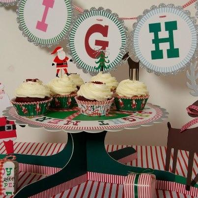 Cupcake Set Merry Bright Christmas