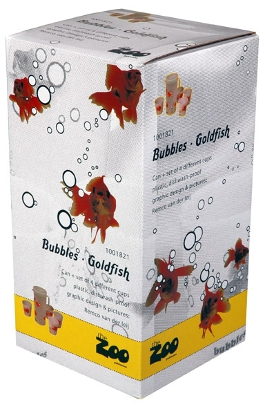 Goudvis bekers set/3