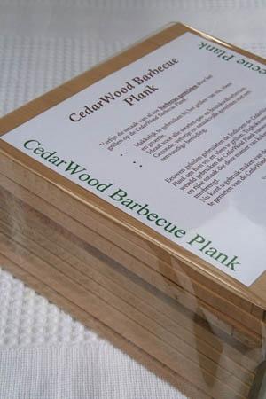 Kokenophout Cedar BBQ plank S set/5