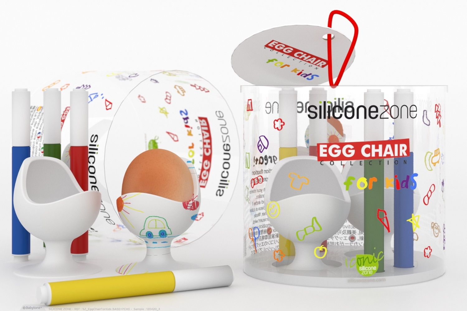 Silicone Zone Egg Chair Kids