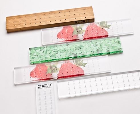STICK IT Plank - Kunststof Aardbei