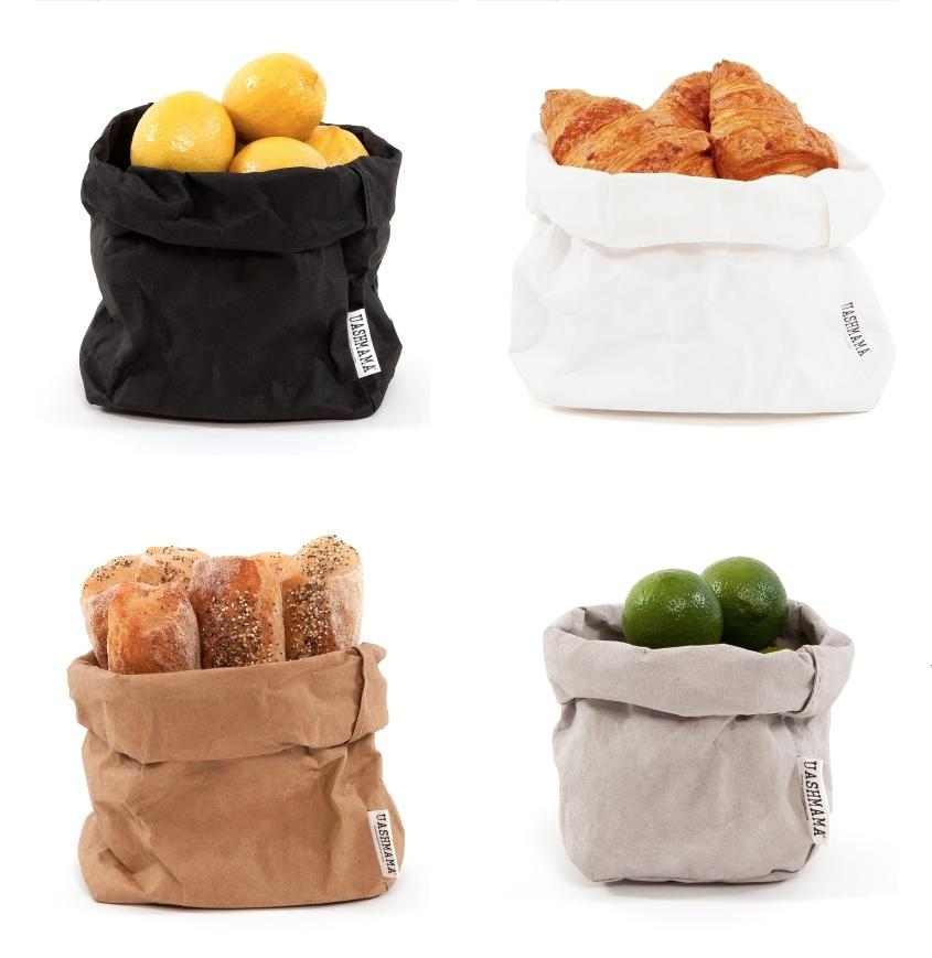 UASHMAMA Paper Bag L - Grijs