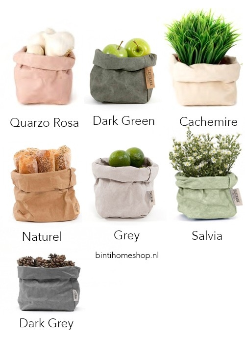 UASHMAMA Paper Bag S - Zwart