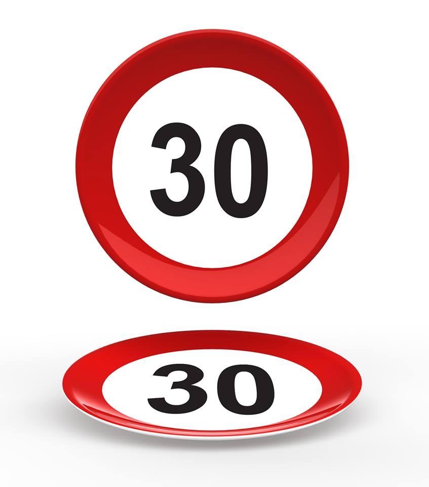 """Verkeersbord Bord """"30"""""""