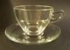 WALKURE Capuccino kop+schotel glas