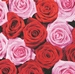 Servetten Pink & Red Roses