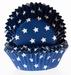 Cake cups Stars blue